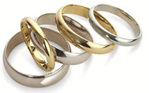 Gold / White Gold Wedding Rings